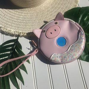 Betsy John Luv Betsy Piglet Pig Wristlet Too Cute!